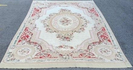 Antique French Needlepoint Aubusson