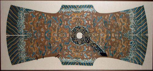 A 19th century 'nine-dragon' child's robe