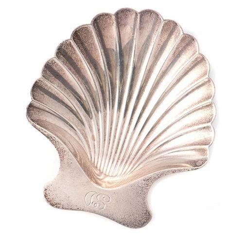 Tiffany & Co. sterling silver scallop shell dish