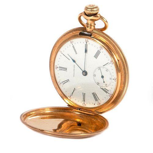 Waltham 14k gold hunting cased pocketwatch