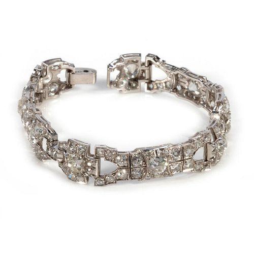 Vintage diamond and platinum bracelet
