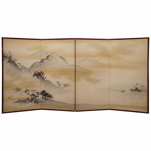 Japanese Landscape Screen