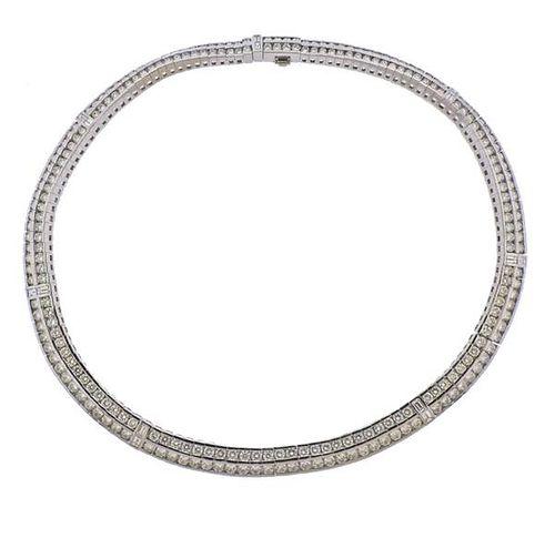18K Gold Diamond 23.09ctw Necklace