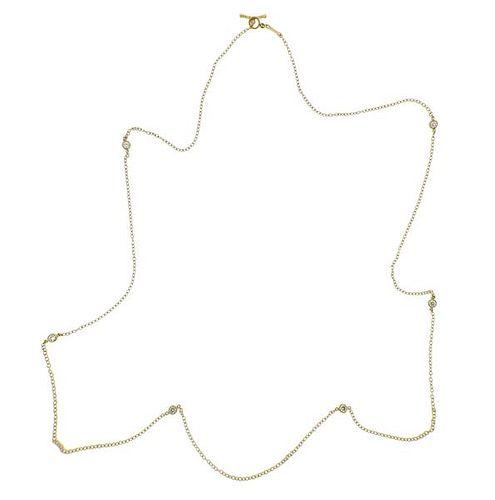 Tiffany & Co Peretti Diamonds by the Yard 18k Gold Necklace