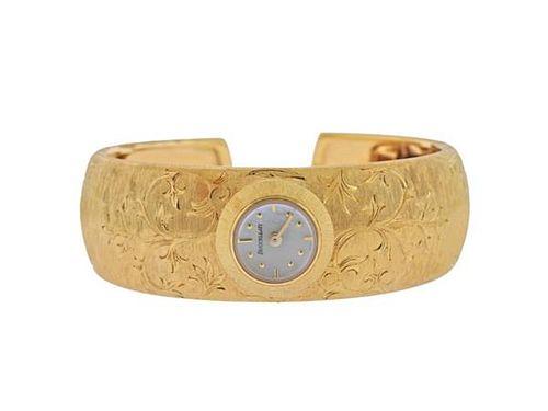 Buccellati 18k Gold Mother of Pearl Bracelet Watch