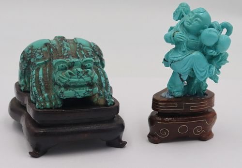 Turquoise Carving of a Crouching Beast.