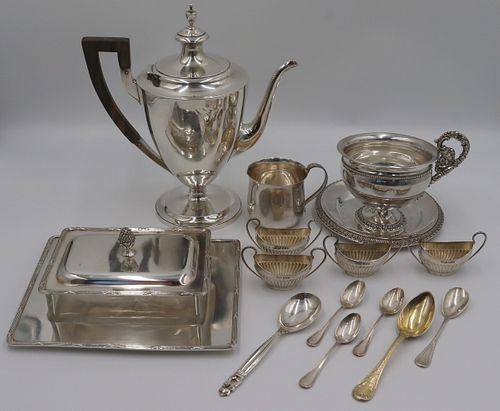 SILVER. Assorted American and Continental Silver.