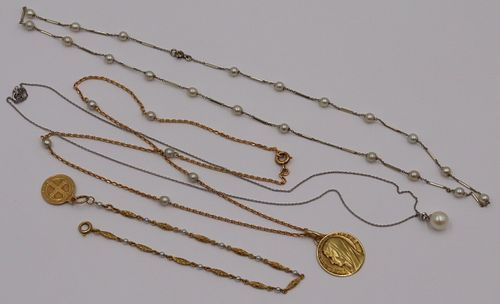 JEWELRY. Assorted French Gold and Pearl Jewelry.