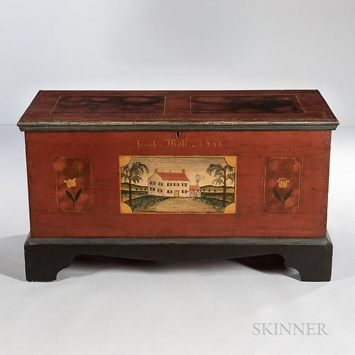 "Paint-decorated Dower Chest ""Noah Mali,"""