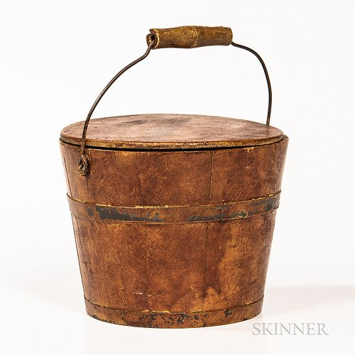 Shaker-style Painted Covered Pail