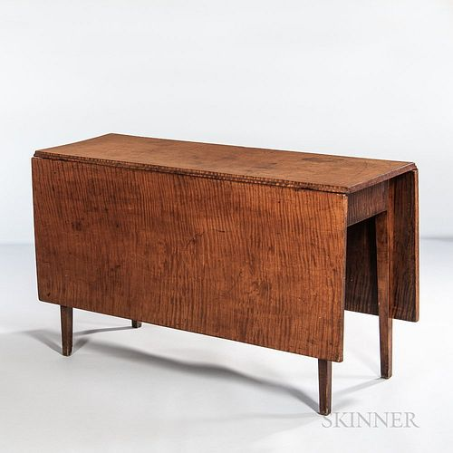 Tiger Maple Drop-leaf Dining Table