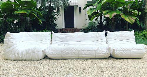 Ligne Roset - Togo Sofa - 3 Piece Konda Blanc Sofa