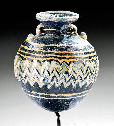 Greek Core Formed Glass Aryballos