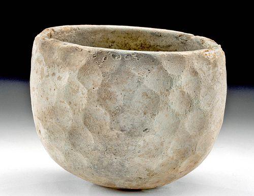 Sasanian Glass Bowl w/ Dimpled Pattern