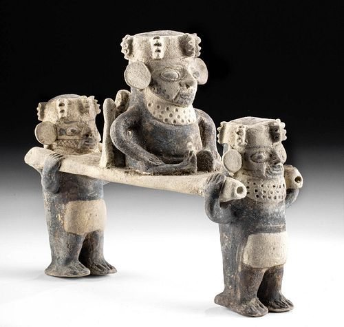 Chancay Pottery Palanquin Figures