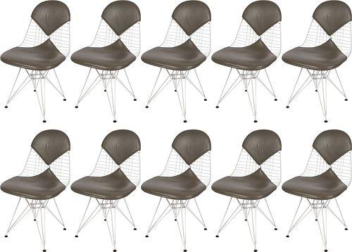 Set of Ten Eames DKR Chairs for Herman Miller