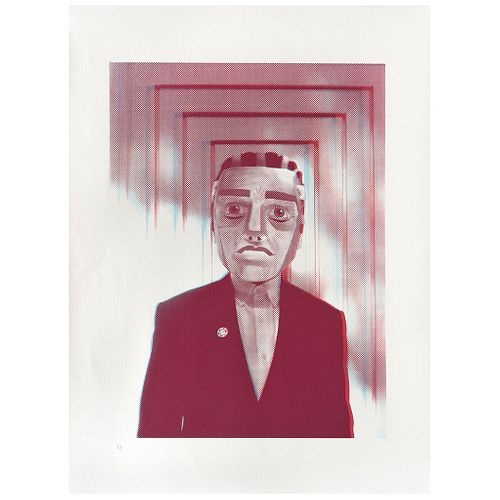 """DR. ALDERETE, Untitled, from the series Ritual, 2017, Unsigned, Serigraphy in two inks 4 / 4, 24.7 x 18"""" (62.8 x 46 cm)"""