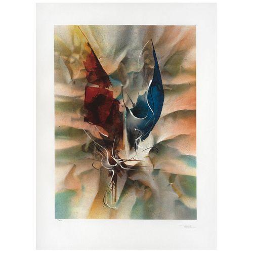 "LEONARDO NIERMAN, Papel arrugado, Signed, Lithography 39 / 325, 29.9 x 22"" (76 x 56 cm)"