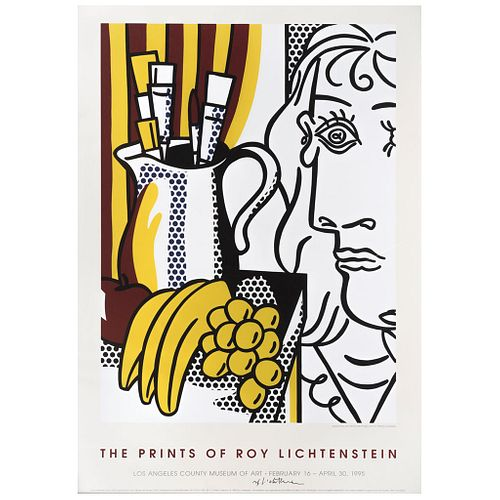 "ROY LICHTENSTEIN, The Prints of Roy Lichtenstein (Still Life with Picasso, 1973), Signed, Offset lithography without print number, 30.7 x 22"" (78 x 56"
