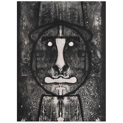 "RUFINO TAMAYO, Cabeza en rojo, 1973, Signed, Lithography 39 / 50, 29.9 x 22"" (76 x 56 cm)"