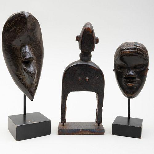 Ivory Coast Wooden Passport Mask, Dan