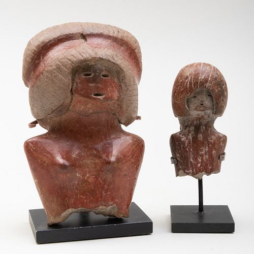 Two Valdivian Terracotta Fragments of Female Figures, Equador