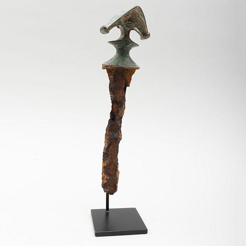 Luristan Iron and Bronze Handled Dagger