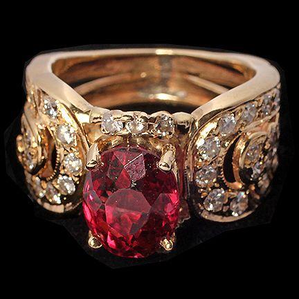 Lady's Rhodolite and Diamond Dress Ring