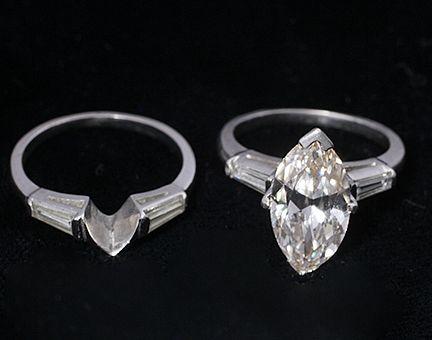 Lady's Iridium-Platinum 3.45 diamond solitaire Wedding Set