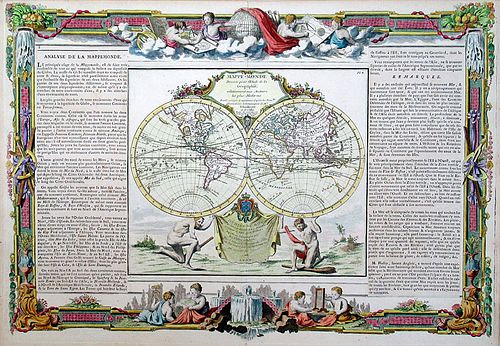 Map of the World in 1766 published by L.C. Desnos - Courtesy of Charles Edwin Puckett, Ohio