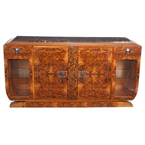 Art Deco Bookcase Cabinet