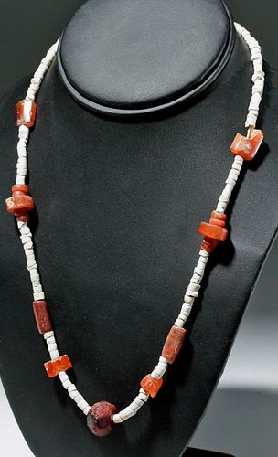Pretty Necklace w/ Ancient Persian Amber / Carnelian