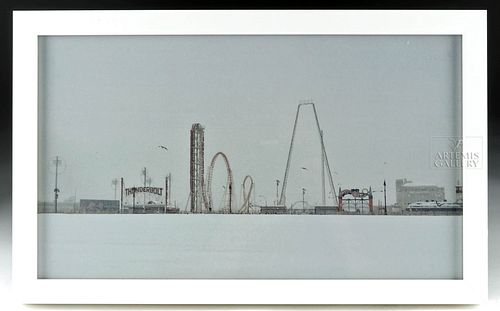 Framed Andrew White Photograph of Coney Island - 2015
