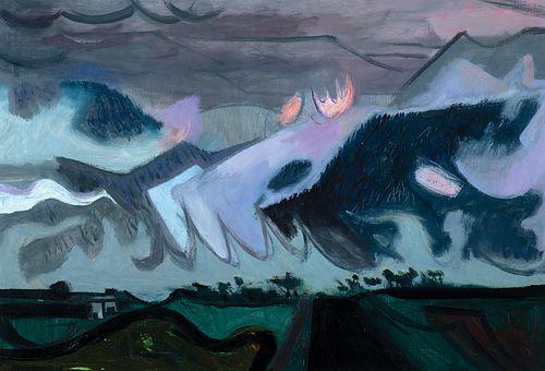 "Maurice Freedman (Am. 1904-1985)     -  ""Mountain Mist"" 1964   -   Oil on canvas"