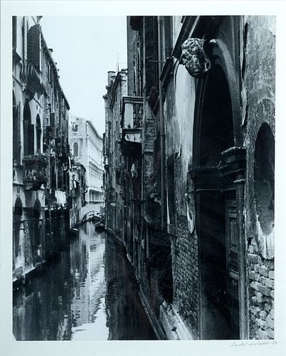"""Todd Webb (Am. 1905-2000)     -  """"Venice, Italy"""" 1984   -   Black and white photograph"""