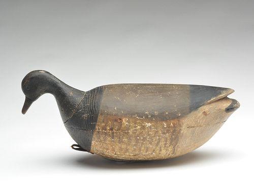 Hollow carved swimming brant, Mark McNair, Craddockville, Virginia.