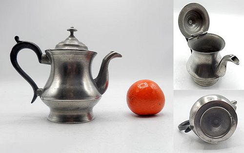 Rare 1-Cup Boardman Pewter Teapot
