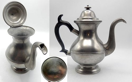 Marked Pewter Pot