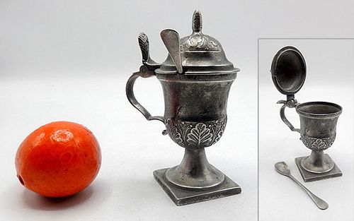 Pewter Mustard Container