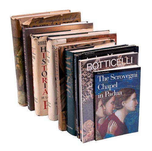 LOTE DE LIBROS DE MÚSICA, PINTURA Y PINTORES EUROPEOS. a) Historia de la Pintura.b) The Larrousse Encyclopedia of Music. entre otros.