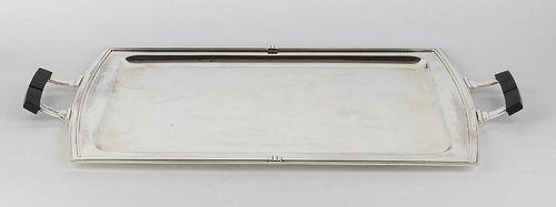 A pair of Italian silver 800/1000 trays - Alessandria 1980s, CESA