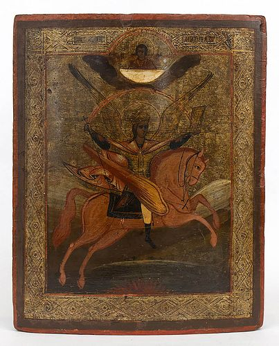 A Russian Icon of the Arcangel Michael - early 19th Century