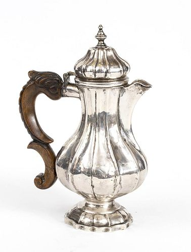 An Italian silver tea pot - probably Venice 18th Century