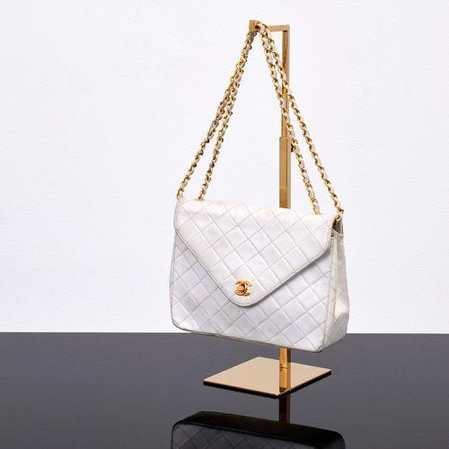 Vintage Chanel Quilted Envelope Handbag/Shoulder Bag