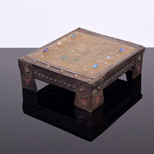 Alfred Daguet Repousse Lidded Box