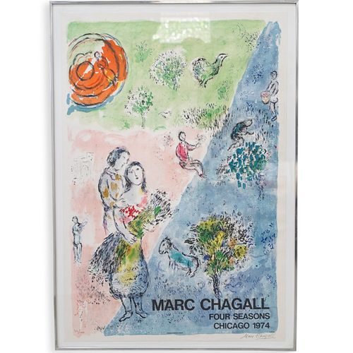 """Marc Chagall (French. 1887-1985) """"Four Seasons"""" Lithograph"""