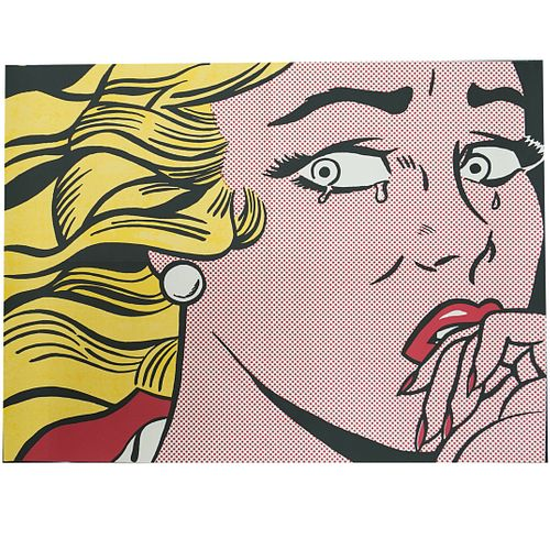 """Roy Lichtenstein (American,1923-1997) """"Crying Girl"""" Lithograph"""