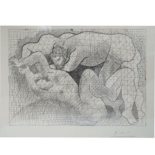 """Pablo Picasso (Spanish 1881-1973) """"The Rape"""" (Le Viol) Vollard Suite Etching"""