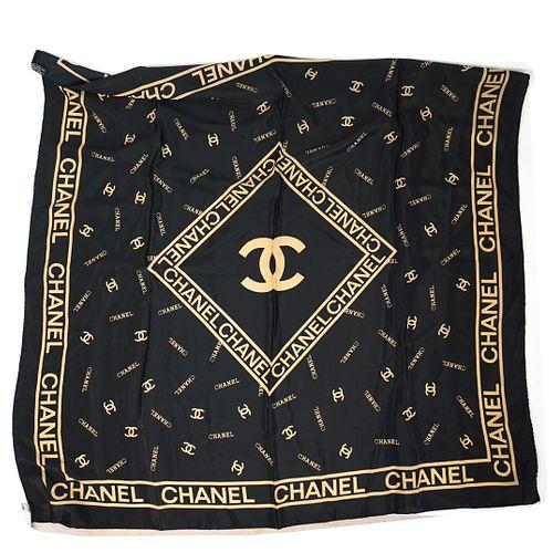 Chanel Black Scarf