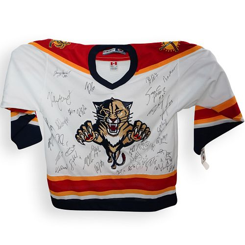Team Signed Panthers Hockey Jersey